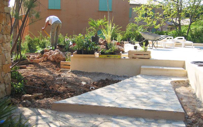Aménagement d'un jardin par notre paysagiste